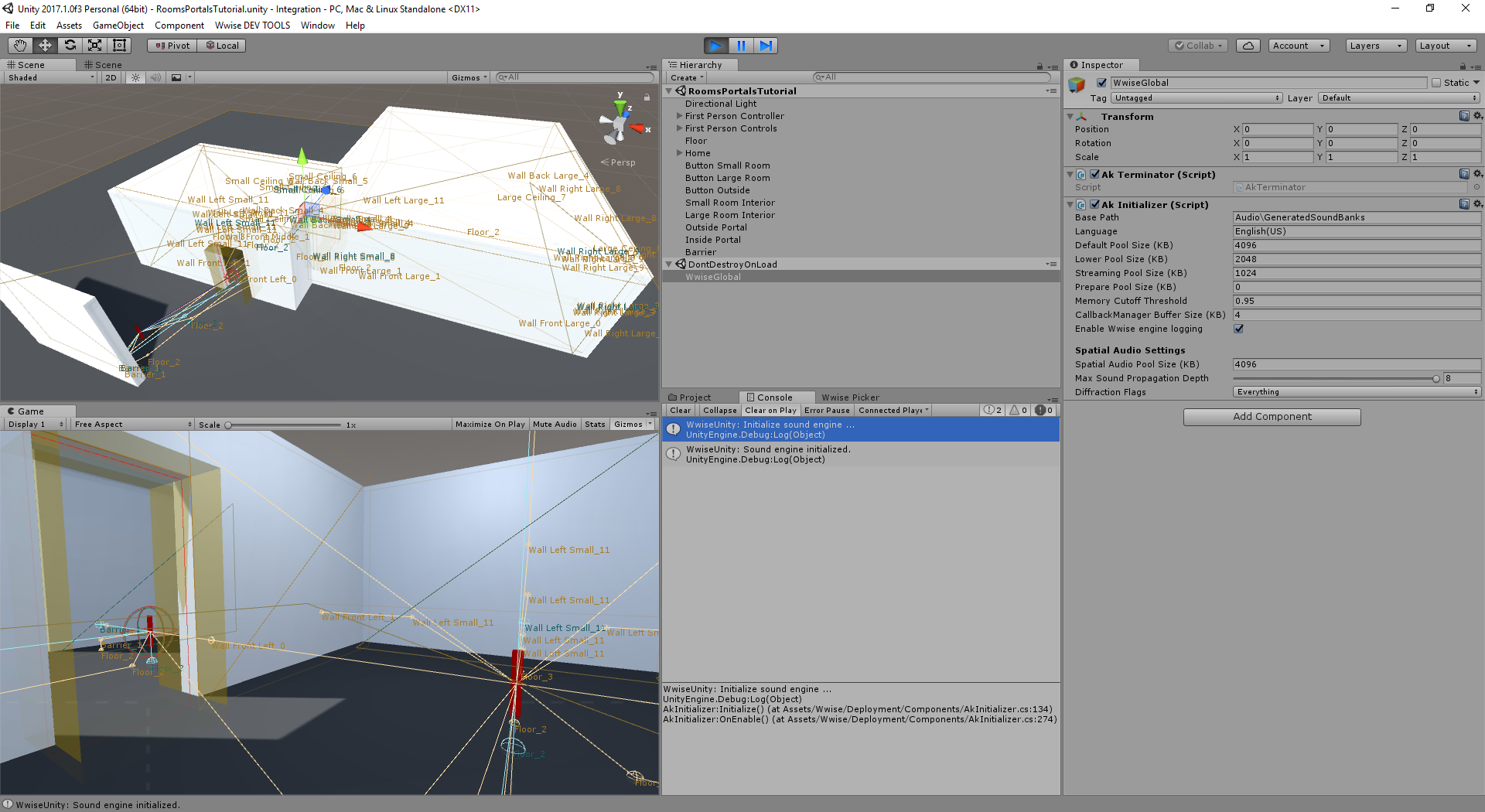 5.UnityWindowRoomsAndPortalsTutorialScene.png