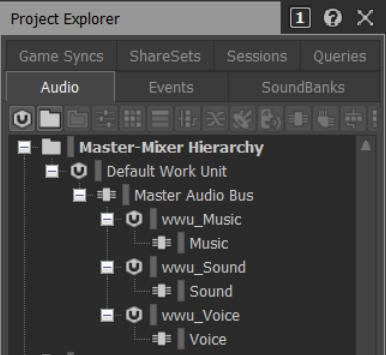 Master-Mixer Hierarchy - Work Units