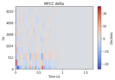MFCC delta