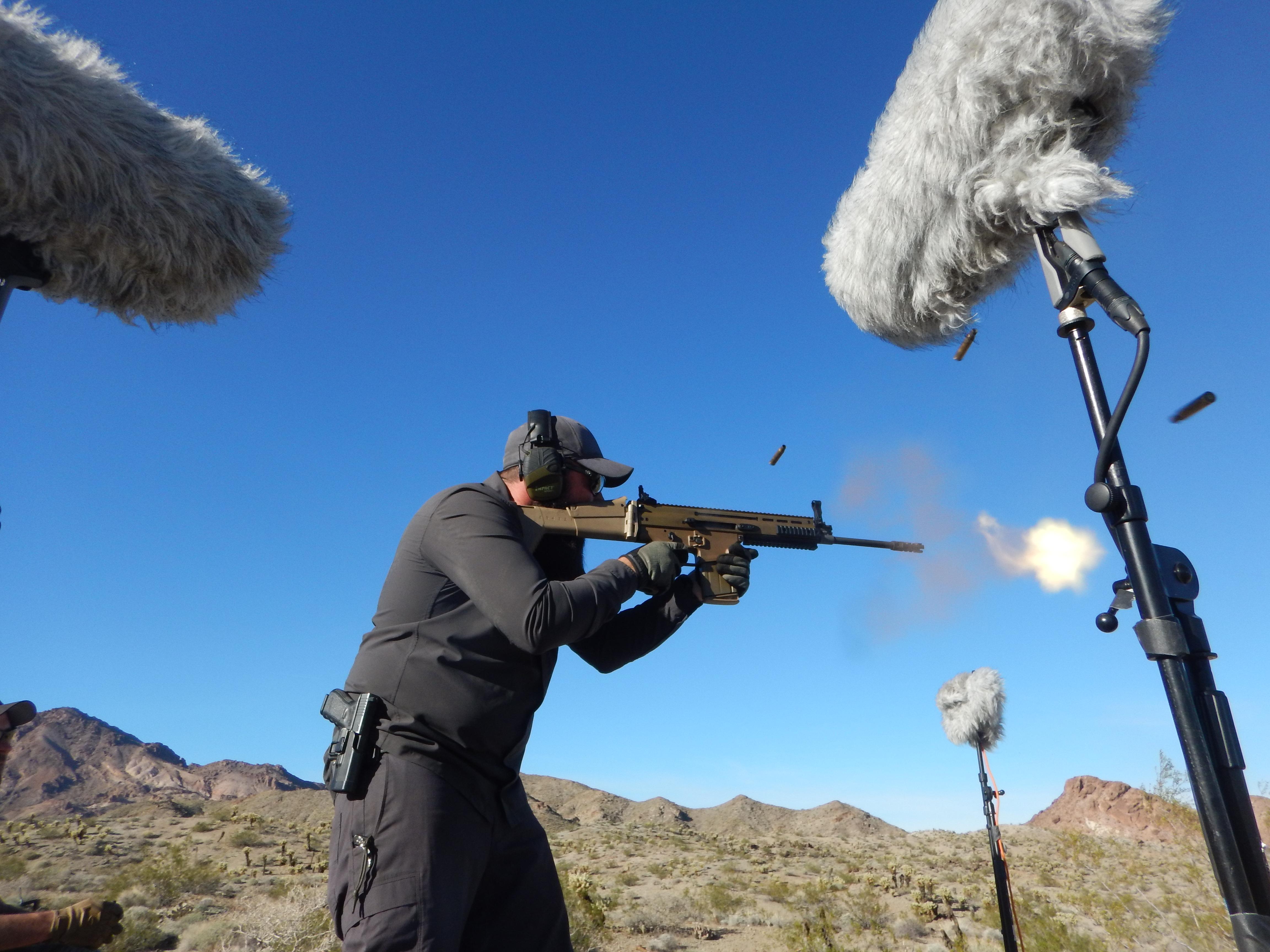 Gun DSCN2110 SCAR-H Muzzle Blast - Daniel